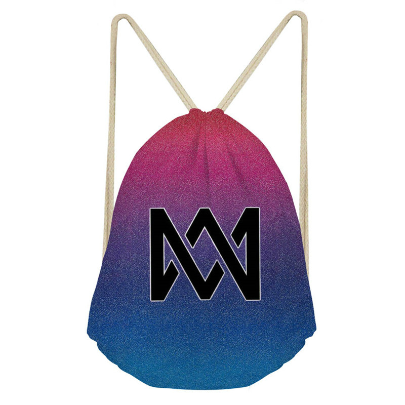 ThiKin Marcus And Martinus Drawstring Bag Fashion Shoulder Bags Hip Hop Fans New Arrival High Capacity Women Backpack