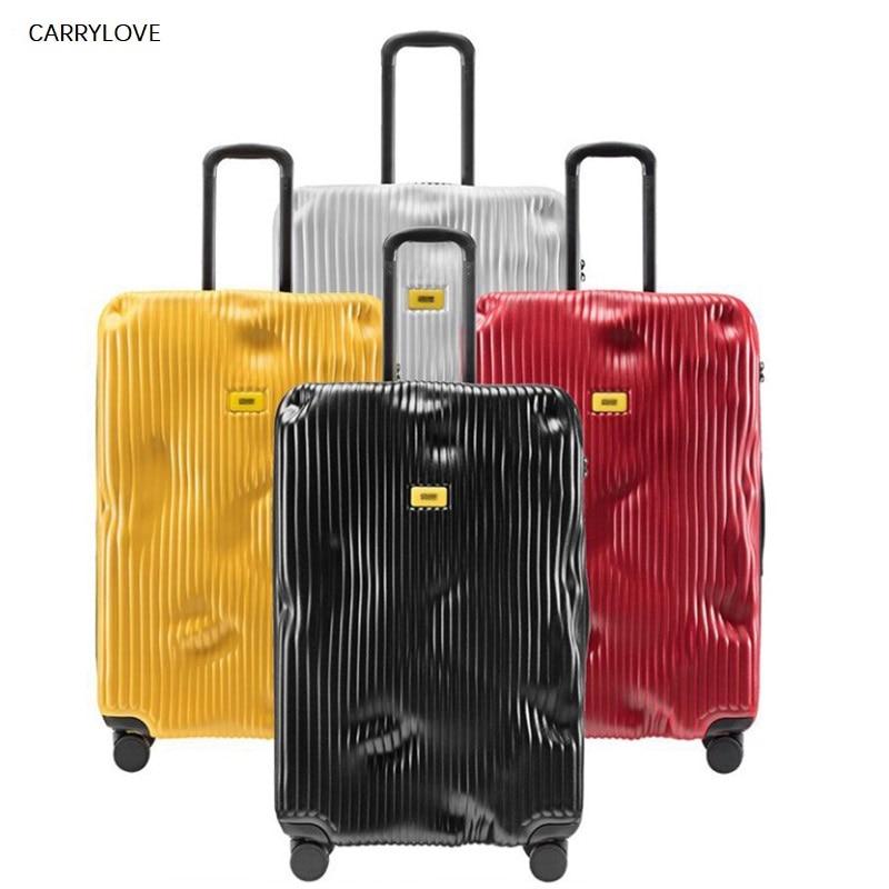 Conte de voyage tas lock spinner ABS PC bagage roulant cabine rigide valise valise de voyage sur roue