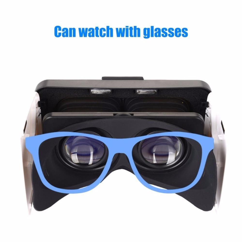 VR Box 3D Glasses Virtual Reality Goggles Foldable VR Glasses For Smartphones 4.7-6.0″ Googles Cardboard Helmet 3D Video Games