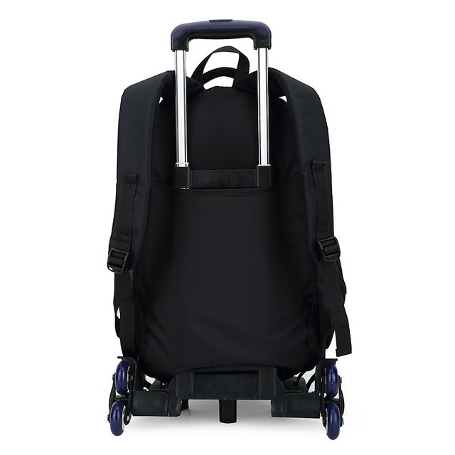 ZIRANYU High-capacity Student Shoulder Backpack Rolling Luggage Children Trolley Suitcases Wheel Cabin Travel Duffle School Bag School Bags