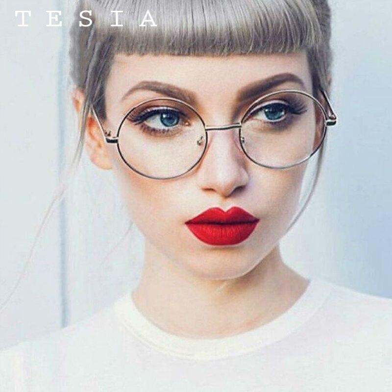 TESIA Fashion Summer Style Sluneční brýle dámské kulatý kovový rám Retro brýle pro řidičské brýle na čtení A8075
