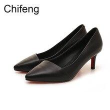 womens heels girls shoes woman pump fashion casual women sexy pointed genuine leather 2017 new women shoe footwear