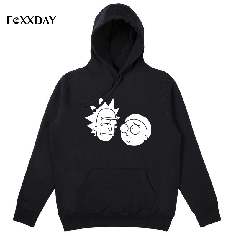 Funny Hoodies Cool Pullover Ricky Hipster-Style Morty Male Winter Casual Fashion Print