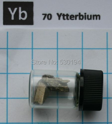 5 gram 99.99% Ytterbium Metal in glass vial - Element 70 sample виниловые пластинки patti smith live in germany 1979 180 gram