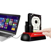 """Doppio 2.5 """"/3.5"""" IDE SATA HDD Hard Drive Disk Supporto di Base Dock Docking Station di Trasporto di Goccia"""