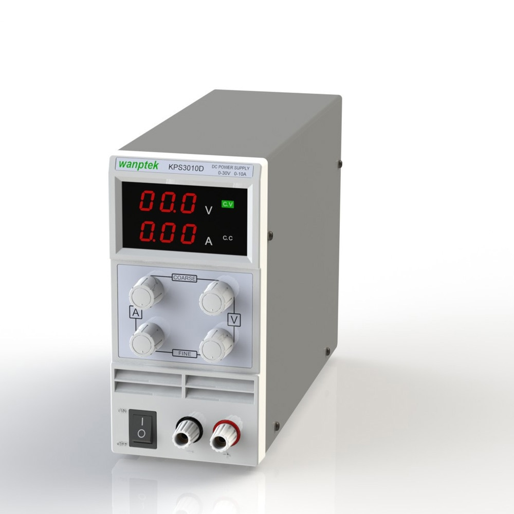 Mini DC Power Supply Professional Switching DC Power Supply Variable Adjustable AC 110V/220V 50/60Hz Digits LED 0 30V 10A