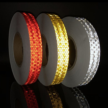 25mmx10m Reflective Bicycle Stickers Adhesive Tape for Bike Safety White Red Yellow Accessories