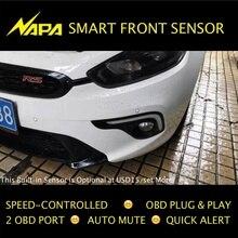 Velocidad controlada por Sensor de Parking Delantero OBD Plug & Play Sin Necesidad de Corte de Alambre, Smart Alert, automática Mute 4 Sensores de Alta Calidad