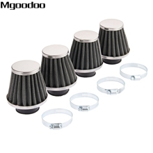 Mgoodoo 4x 35mm Double Layer Steel Air Filter Gauze Clamp-on Cleaner Pods ATV Scooter Minibike Dirtbike For Honda KTM Yamaha