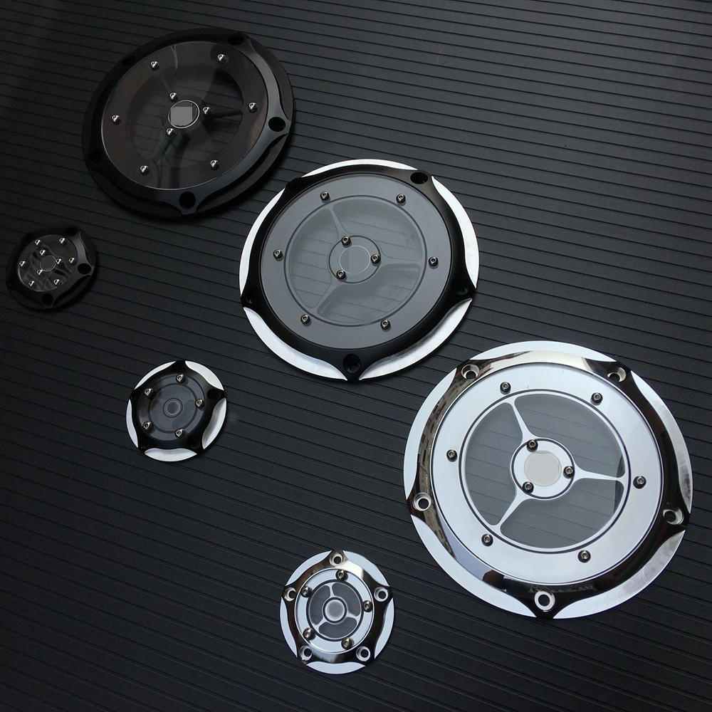 Contrast CNC Derby Timing Timer Cover For Harley Touring Electra Glide Road King Dyna Softail Heritage