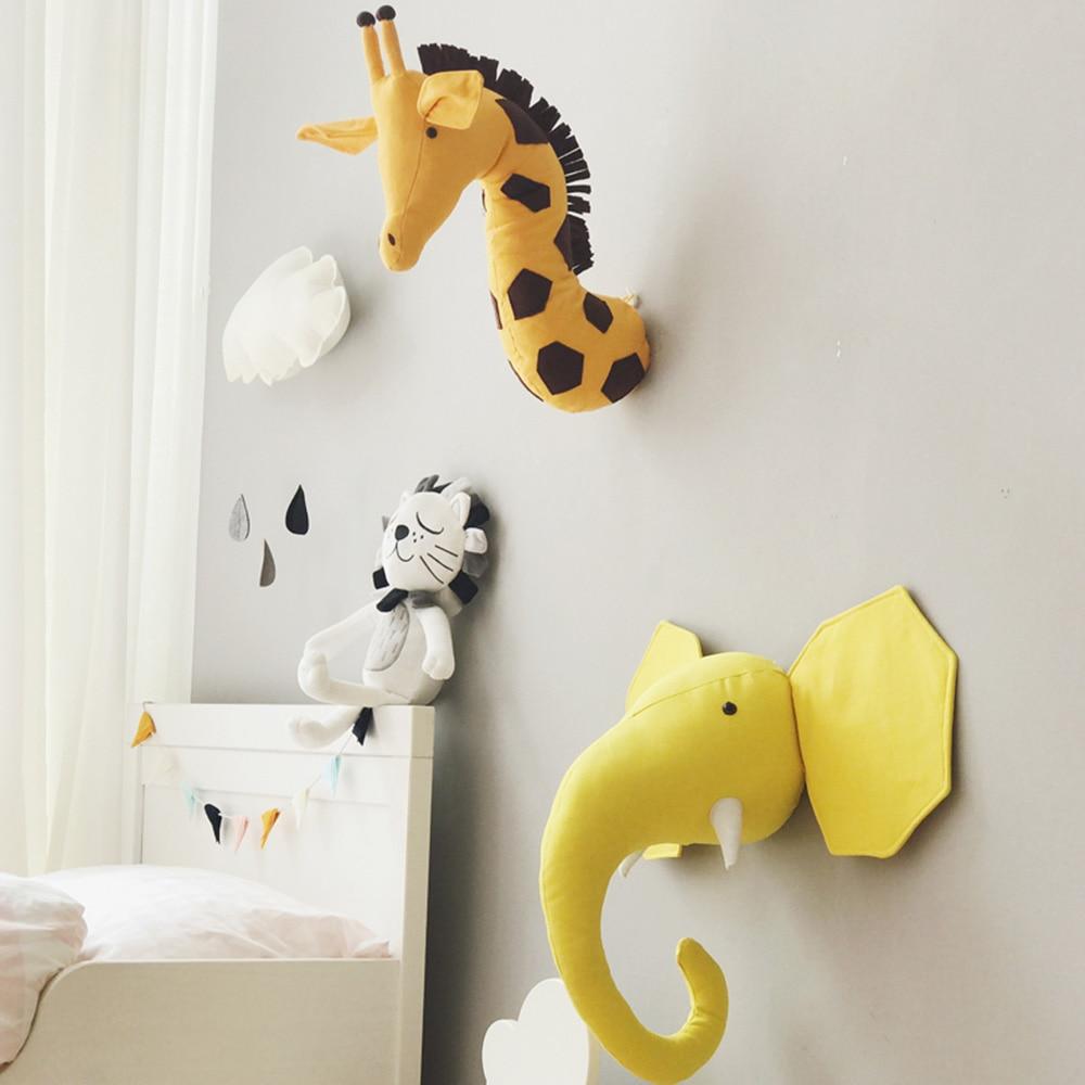 Etagere Murale Enfant Tete Mural Tenture D/écoration pour Salle de Jeux Tenture D/écoration pour Chambres Jouets Cadeau Gray