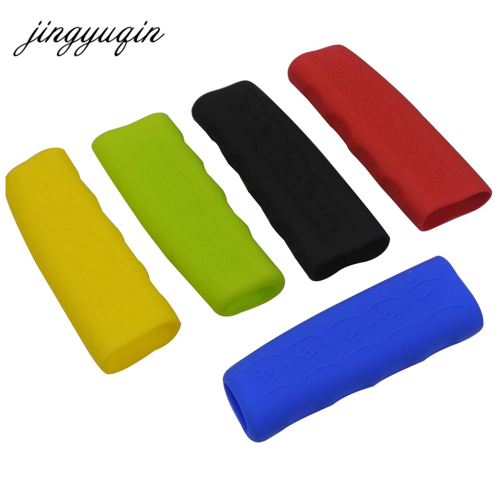 Jingyuqin Gel Case Parking Hand Brake Grips Sleeve Universal Decoration 10pcs/lot Anti-slip Car Handbrake Covers Sleeve Silicone
