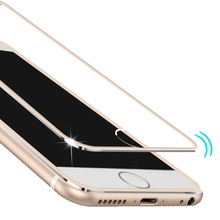 Clear Front Screen Protector for iPhone 6 Tempered Glass Full Cover Curved 3D Edge Titanium For