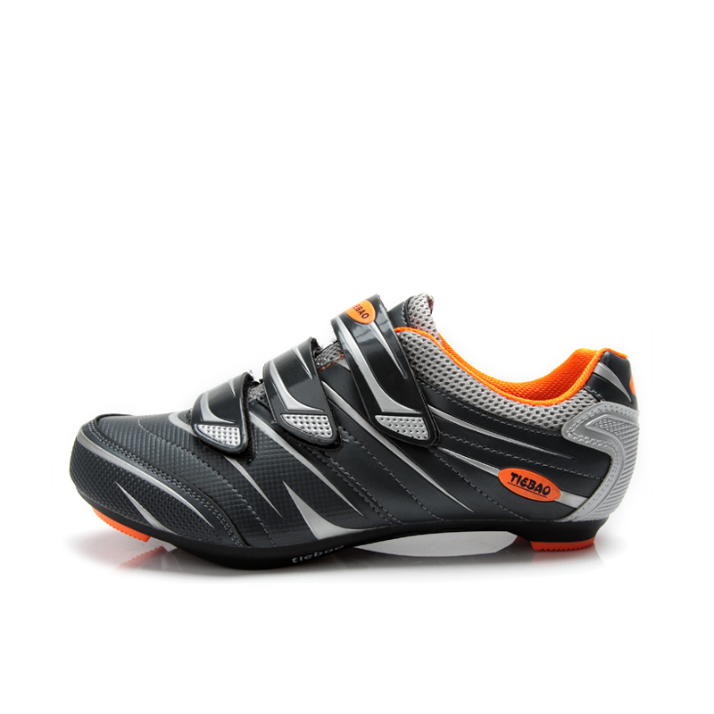 TIEBAO 6-816A Outdoor Road Cycling <font><b>Shoes</b></font>, Spinning Class Bike <font><b>Shoes</b></font>, Triple Straps Compatible With SPD,SPD-SL, LOOK-KEO Cleat