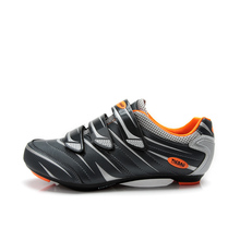 TIEBAO 6-816A Outdoor Road Cycling Shoes, Spinning Class Bike Shoes, Triple Straps Compatible With SPD,SPD-SL, LOOK-KEO Cleat