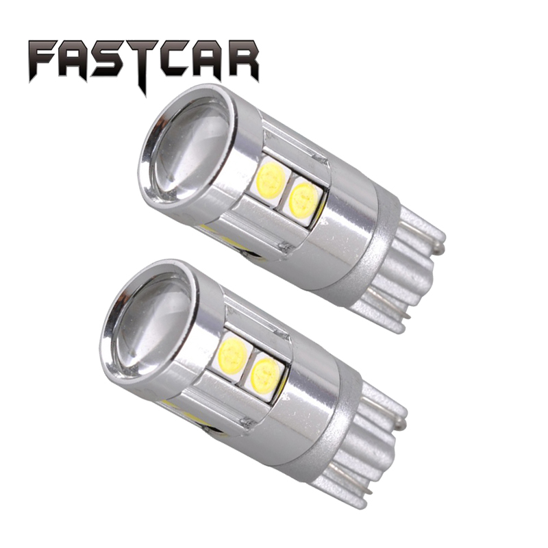 2x Super Bright Led T10 3030 LED 12V W5W Car Light 168 194 Auto Reading Parking Fog Marker Rear Lights 152 194 White