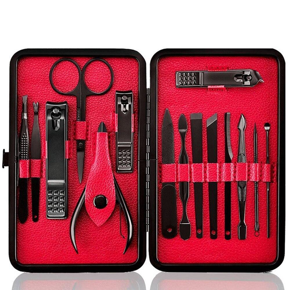 1 Set Stainless Steel Tweezer Nail Art Clipper Scissors Tweezer Knife Manicure Cutter Nail Art Pedicure Manicure Tools