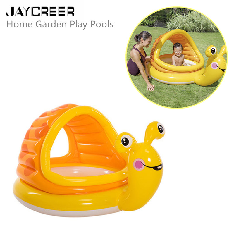 Yellow Snail Inflatable Paddling Pool Summer Children Play Pool Birthday Gift Non-Ironing Activity & Gear Mother & Kids