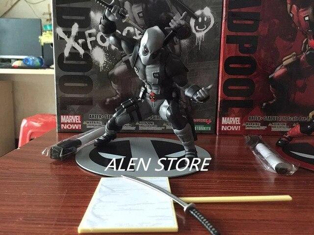 ALEN Deadpool Superhero PVC Toy Figura Kotobukiya Figura de Ação Deadpool Wade Wilson