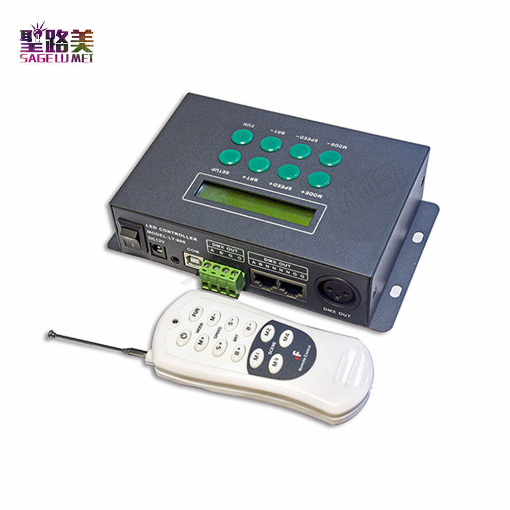 LED RGB/DMX Controller with remote ,39 changes modes ,common ,receive DMX512 signal,with time and date function Fast shipping lea 501dmx 5w led light engine with remote controller with dmx function