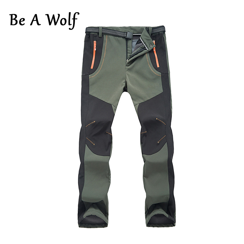 Be A Wolf Men Hiking Pants Outdoor Softshell Trousers Waterproof Windproof Fishing Cycli ...