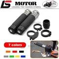 Motorcycle Handle bar / Handlebar Grips Carbon Fiber Material 7/8'' CNC 22MM For HONDA CBR500R CBR500F CBR650F F5 F4 F4i CBR600