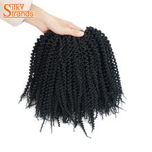 Silky Strands 6inch 24 roots Freetress Crochet Braids Deep Twist Synthetic Braiding Crotchet Hair Extensions For Kids(China)