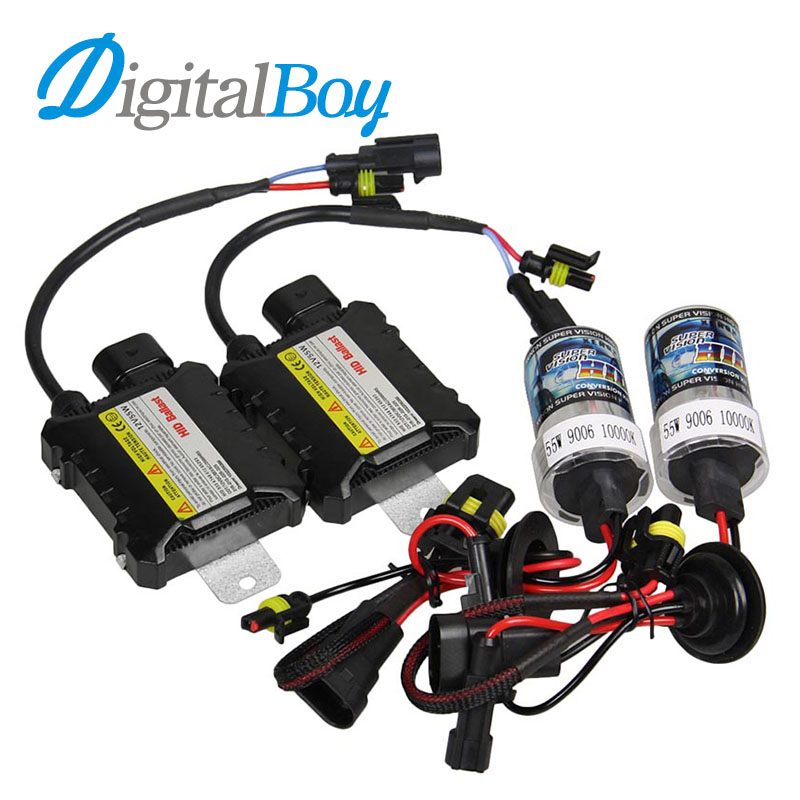 DIGITALBOY Brand 55W 12V Slim Ballast Xenon Kit Block HID Bulb Car Headlight 9006 HB4 Bulbs Headlamp Car Light Source Fog Lights стоимость