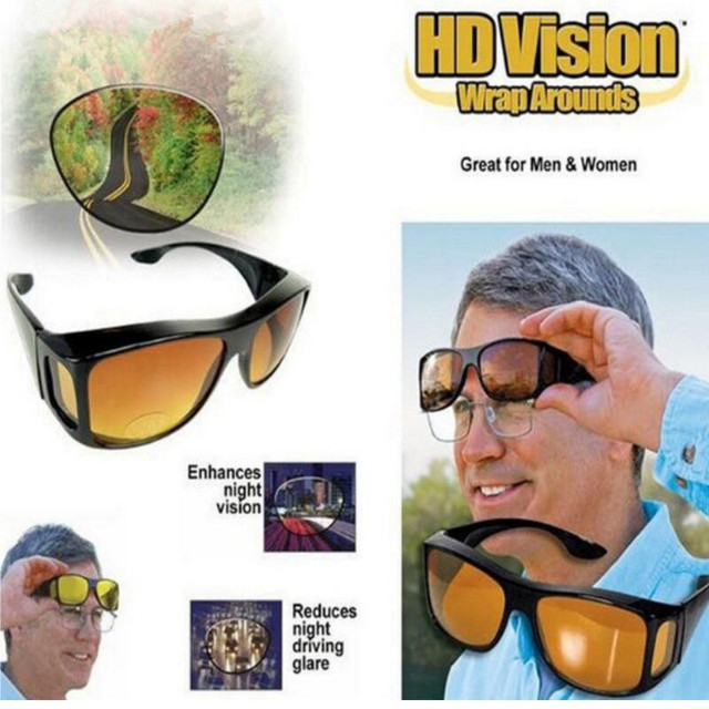 As Seen On TV HD Night Vision Wrap Arounds Sunglasses