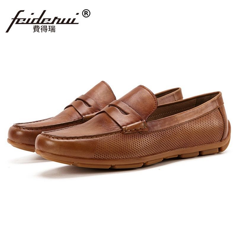 Summer Round Toe Slip on Man Comfortable Shoes Genuine Leather Moccasin Casual Handmade Mens Breathable Flat Loafers SS201Summer Round Toe Slip on Man Comfortable Shoes Genuine Leather Moccasin Casual Handmade Mens Breathable Flat Loafers SS201