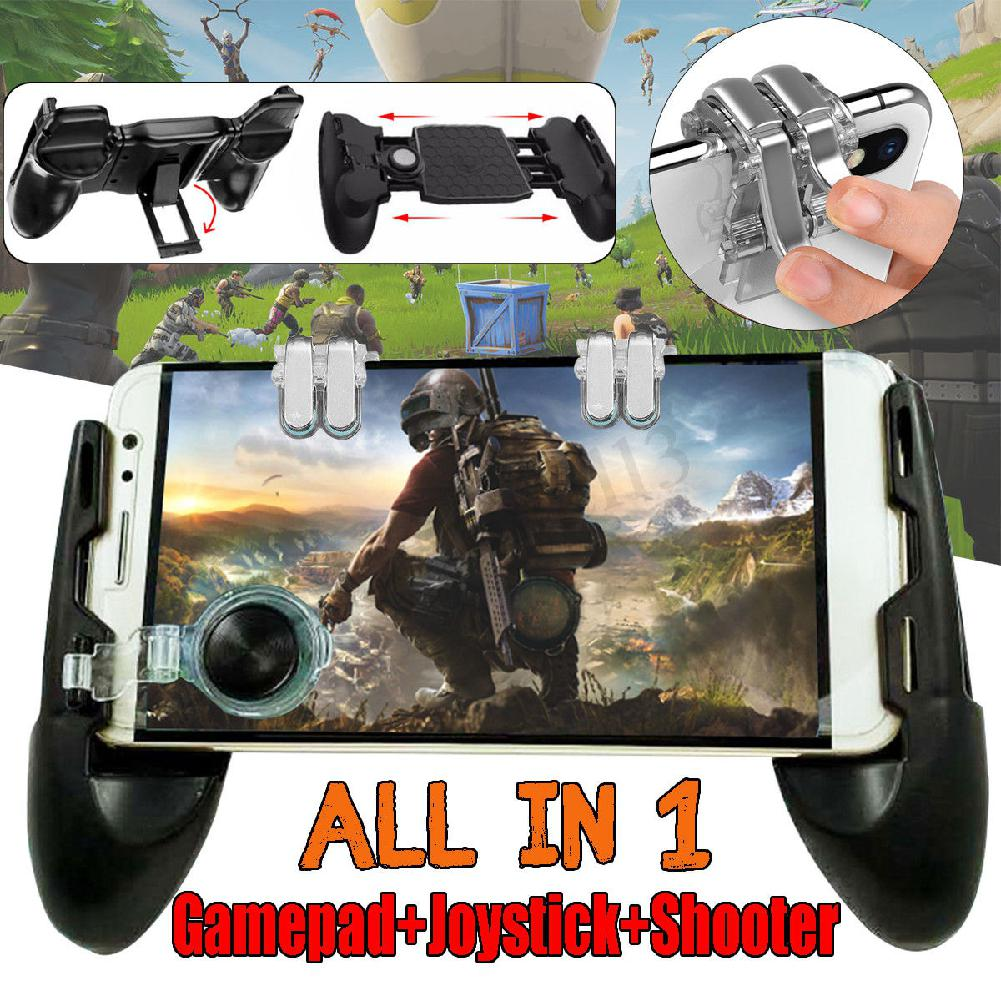 Image 2 - 3 in 1 Mobile Gaming Gamepad Joystick and Controller Trigger and Fire Button for PUBG-in Gamepads from Consumer Electronics