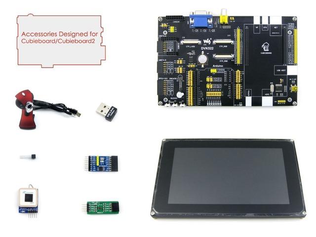 Módulo Cubieboard/Cubieboard 2 Pack Acessórios C = DVK522 Placa + 7 polegadas Capacitivo LCD + UART GPS + USB WIFI + Câmera