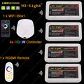 4x MiLight RGBW LED Dimmer Controller DC12-24V 24A+ 2.4G 4-Zone RF Wireless Touch Remote + WiFi iBox1 for RGBW LED Strip Light