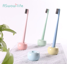 Ceramic Toothbrush Holder Creative Bathroom Toiletries Fashion Dental Seat Portable Family Supplies