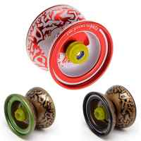 High Performance Alloy Mini-Yo Hypervelocity Triaxial Childcare Red Yo-Yo Professional Toy with String Kids Birthday Gift