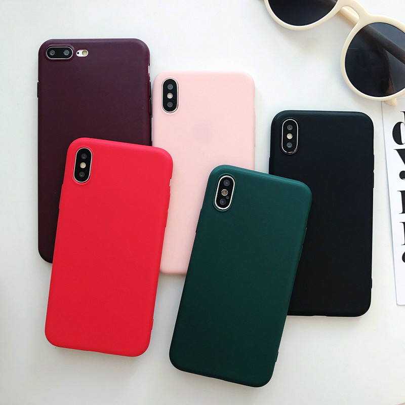 Soft Silicone Case For iPhone XS Max X XR iPhone 6 S 6S 5 5S 5SE 7 8 Plus 6Plus 7Plus 8Plus Ultra Thin TPU Cell Phone Back Cover image