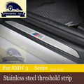 Motorsport Car Door Scuff Sill Plate Entry Strips Stainless Steel Welcome Pedals for BMW F30 F35,car-styling