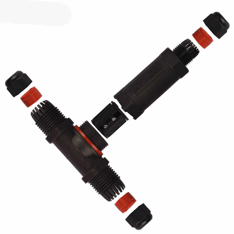 10 pcs Kết Nối Không Thấm Nước 3 pin T-Loại IP68 250 V & 25a 6-12mm Dây Điện cáp Kín Chống Cháy Hộp Tiếp Nối Năng Lượng Mặt Trời Vườn