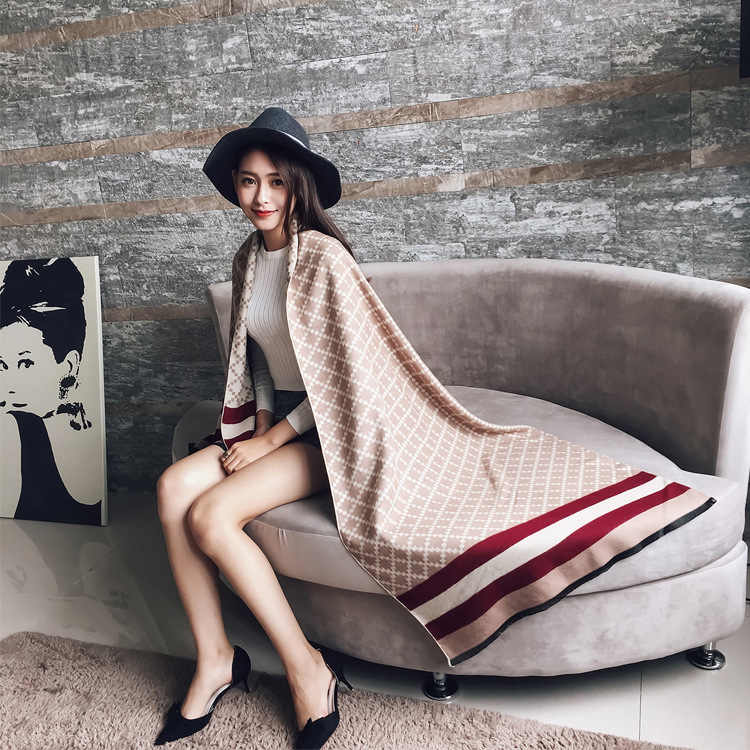 Winter Hot Sale Fashion Spring Autumn Womens Scarves Pareo Wraps Soft Warm Cashmere  Scarf Blankets Shawls a9f845c3591