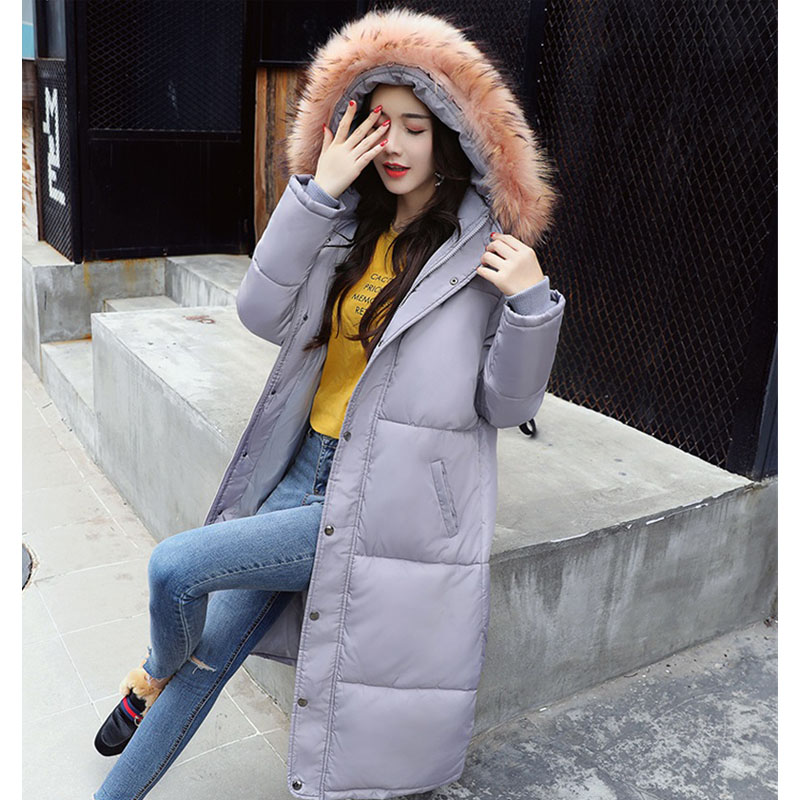 Winter Down Coat women 2017 Fashion Long Duck Parkas Thick Warm Big Fur Collar Down Jacket Wadded Slim Plus Size High Quality
