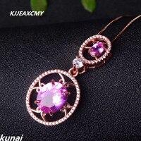 KJJEAXCMY Fine Jewelry Color Jewelry 925 Silver Inlay Natural Topaz Pendant Women Wholesale Powder