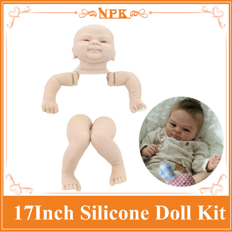 Good Price Reborn Baby Doll Kits For 17'' Baby Doll Made By Soft Vinyl Real Touch 3/4 Limbs Unpainted Blank Doll DIY Reborn Doll good price reborn baby doll kits for 17 baby doll made by soft vinyl real touch 3 4 limbs unpainted blank doll diy reborn doll
