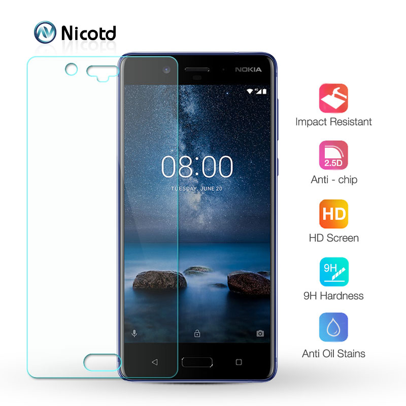 Premium Tempered Glass Film For <font><b>Nokia</b></font> X7 X6 X5 8 Protective Film For <font><b>Nokia</b></font> Lumia 7.1 plus 6.1 <font><b>5.1</b></font> 3.1 8 7 6 5 3 <font><b>Screen</b></font> <font><b>Protector</b></font> image