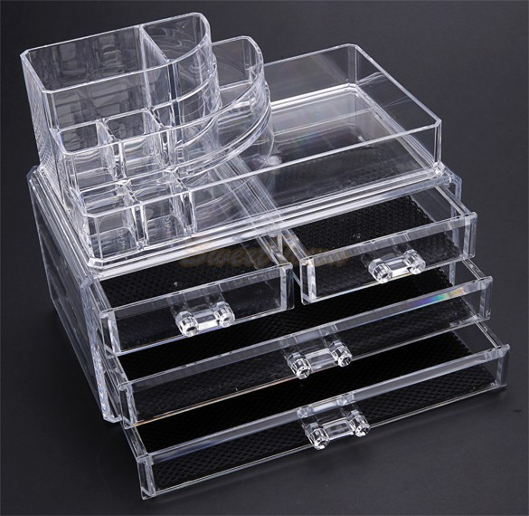 USA Stock New Clear Makeup Jewelry Cosmetic Storage Display Box