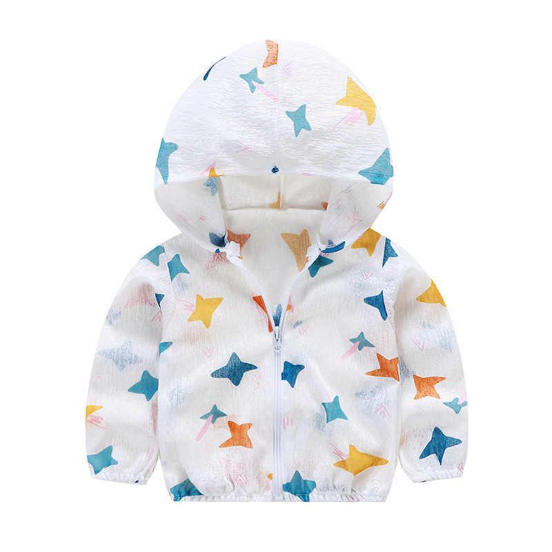 Luna Blanco/Летняя Солнцезащитная детская одежда для мальчиков от 1 до 8 лет, пальто с капюшоном для девочек, детская одежда на молнии для маленьких мальчиков, пальто для малышей