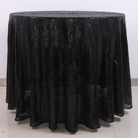 90inch round sequin tablecloth / table linen wedding 5pcs/lot Free Shipping