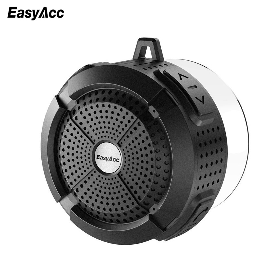 EasyAcc Wireless Bluetooth 3.0 Speaker With 5W Driver /Suction  Cup/Waterproof Case /Carabiner