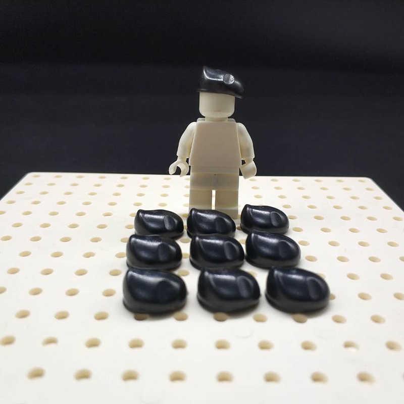 10 шт. WW2 Пособия по немецкому языку M35 шлем UK солдат берет фигурки с оружием маски модели в стиле милитари армии Кепки строительные блоки игрушки LegoINGlys
