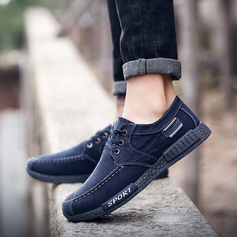 2018 Noir Sneakers Adulto Casual Respirant Chaussures Étudiants De Toile Blanc Mode Tenis Tableau Hommes bleu Nouveaux Masculino gris EEnqZC