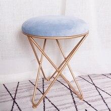 Гостиная подставка для ног для дивана табурет макияж туалетный табурет Европейский стиль железная художественная обувь скамейка спальня журнальный столик и стул